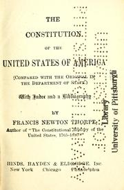 Cover of: The Constitution of the United States of America (compared with the original in the Dept. of State) | United States