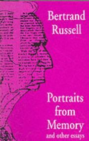 Cover of: Portraits from memory, and other essays