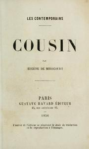 Cousin by Eugène de Mirecourt