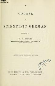 Cover of: course in scientific German. | Harry Blake Hodges