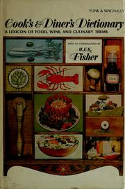 Cover of: Cook's and diner's dictionary | Funk & Wagnalls.