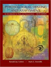 Cover of: Psychological testing and assessment | Cohen, Ronald Jay.