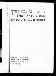 Cover of: The young emigrants |