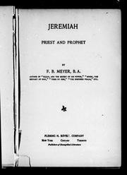 Cover of: Jeremiah | Meyer, F. B.