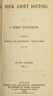 Cover of: A book about doctors | John Cordy Jeaffreson