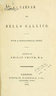 Cover of: De bello Gallico | Gaius Julius Caesar
