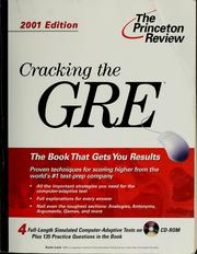 Cover of: Cracking the GRE with four complete sample tests on CD-ROM | Karen Lurie