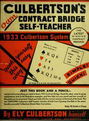 Cover of: Culbertson's own contract bridge self-teacher | Culbertson, Ely