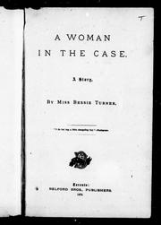 Cover of: A woman in the case |