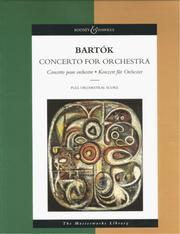 Cover of: Bela Bartok - Concerto for Orchestra
