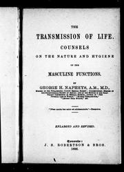 Cover of: The transmission of life by George Henry Napheys