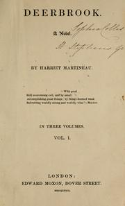 Cover of: Deerbrook | Martineau, Harriet