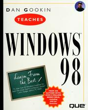 Cover of: Dan Gookin teaches Windows 98 | Dan Gookin