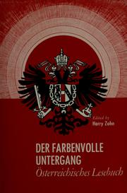 Cover of: Der farbenvolle Untergang | Harry Zohn