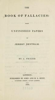 Cover of: The book of fallacies | Jeremy Bentham