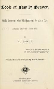 Cover of: Book of family prayer by Laache, N. J. bp.