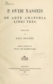 Cover of: Ars amatoria