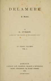 Cover of: Delamere by G. Curzon