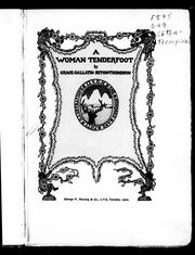Cover of: A women tenderfoot |