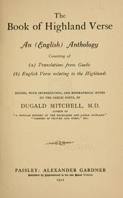 Cover of: book of Highland verse | Dugald Mitchell