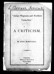 """Indian wigwams and northern camp-fires"" by John McDougall"