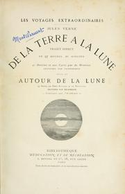Cover of: De la terre à la lune by Jules Verne