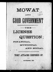 Cover of: Mowat and good government |