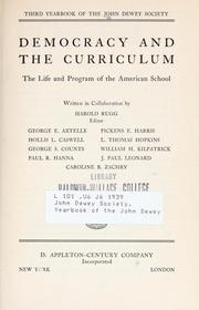 Cover of: Democracy and the curriculum | Harold Ordway Rugg