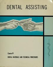 Cover of: Dental assisting |