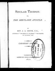 Cover of: Sinclair Thomson, or, The Shetland apostle |
