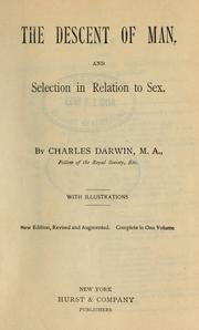 The descent of man and selection in relation to sex pic 45