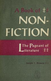 Cover of: A book of nonfiction. | Joseph T. Browne