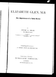 Cover of: Elizabeth Glen, M.B. |