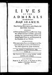Cover of: Lives of the admirals and other eminent British seamen |