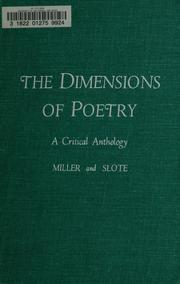 Cover of: The dimensions of poetry | James Edwin Miller