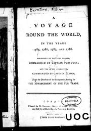 Cover of: A voyage round the world, in the years 1785, 1786, 1787, and 1788 |