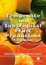 Cover of: Temperate and subtropical fruit production |