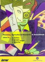 Planning Agricultural Research by