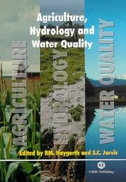 Cover of: Agriculture, Hydrology and Water Quality |