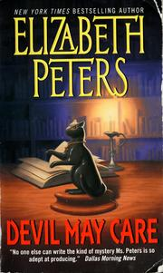 Cover of: Devil may care by Elizabeth Peters