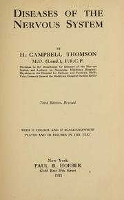 Cover of: Diseases of the nervous system | H. Campbell Thomson