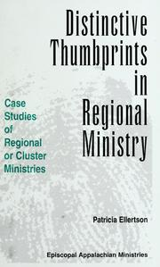 Cover of: Distinctive thumbprints in regional ministry | Patricia Ellertson