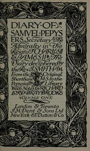 Cover of: The diary | Samuel Pepys