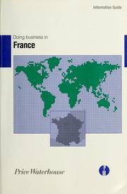 Cover of: Doing business in France |