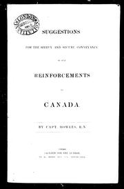 Cover of: Suggestions for the speedy and secure conveyance of our reinforcements to Canada |