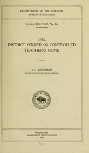 Cover of: The district owned or controlled teacher