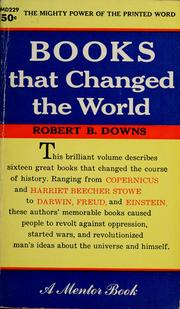 Cover of: Books that changed the world | Robert B. Downs