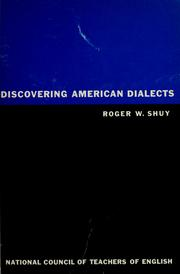 Discovering American dialects by Roger W. Shuy