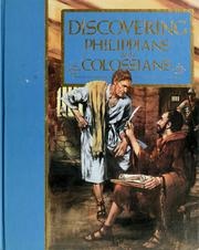 Cover of: Discovering Philippians and Colossians |
