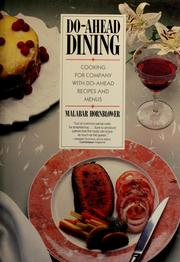Do-Ahead Dining by Malabar Hornblower